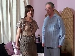 Mother spanks Daughter and Father