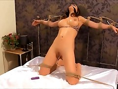 Small Vibrator Stuck Inwards Of Her Puss
