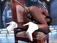 Black Honey Squirts All Over Her Toys