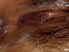 Young Asian honey receives a cream crammed pussy