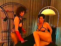 German domina put her gimp in some anal act