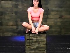 Brutish domination with teen strapped and gagged