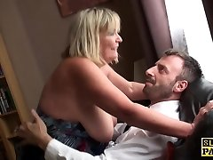 Ginormous british bdsm broad squirts during fucking