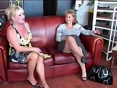 Two Matures Toy and Dominate Fellow