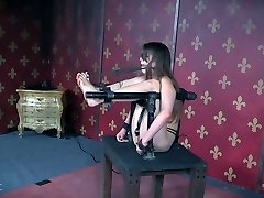 Uber-cute chick Zoey Laine gets her fuckbox penalized in the torture room