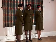 disciplined military girl