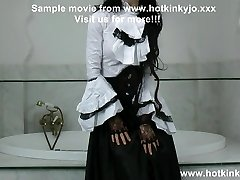 Hotkinkyjo as Gothic girl self fist her backside