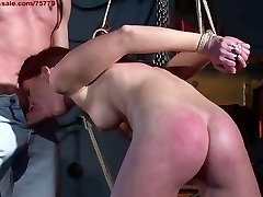 Hunting a slave in the city. The redhead sub.