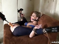 Submissed.com Ball ball-gagged and machine plowed