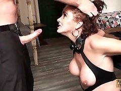 Mature roughed, handcuffed & stuffed in the butt