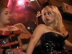 Gimp worships mistress's ass so hot