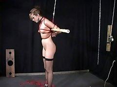 Slave tramp teased and punished