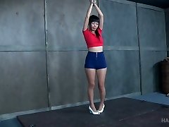 Small tittied Asian whore Marica Hase gets fucked and punished in the bondage & discipline room