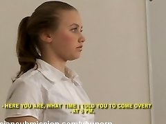 A Russian student girl meets a pack of rude brutish fellows and gets abased