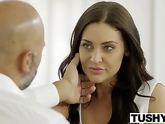 TUSHY Student Gracie Glam Takes Anal From Senior Stud