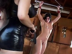 Hang her under the ceiling