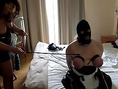 Session with mistress: shot on tits