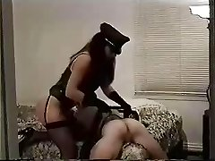 Kinky geezer slave gets punished in the ass by her dominatrix