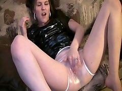spandex mega-bitch in plastic panties