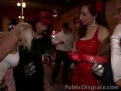 Disgracing a whorish Cougar at a party