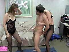 punching balls handjob game 2 pantyhose fishnets