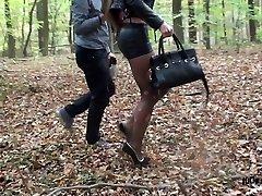 submissive slut hooker cuffed spandex miniskirt extreme