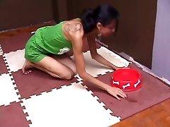 Beautiful Brazilian Goddess Playing With Her PET SLAVE Damsel
