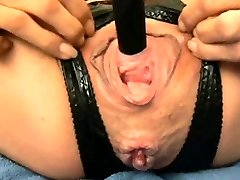 Extreme anal going knuckle deep and urethral faux-cock fuck