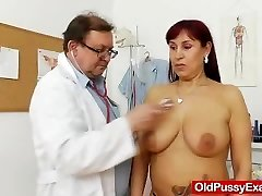 Chubby redhead gets a gynecology