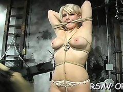 Disciplining breasty nice chick
