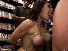 Hot Milf With Big Tits Gets Disgraced And Ass Pummeled In Porn Store - PublicDisgrace