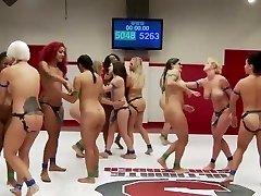Ultimate Girl-on-girl Wrestling Gangbang