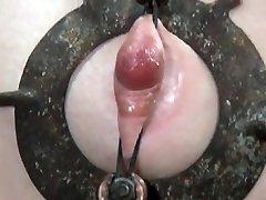 Nipple clampled skank in TT NT sesh