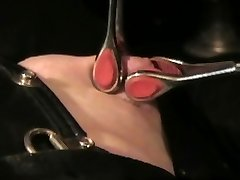 The Leather Domme - Leather Bondage - Nipple Torture