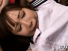 japonski dekle pride prikriti kolegi, da pofukati približno pizda