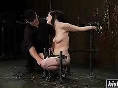 Lindy gets chained and pleasured stiff
