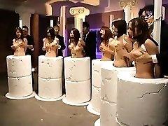 Helpless Oriental babes getting their big orbs massaged