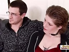 Ginger-haired tattooed MILF steals her sister's boyfriend