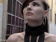 Jeny Smith - MyMokondo strap bondage in public