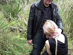 Horny Angel gargle and get fucked by pervert Grandpa