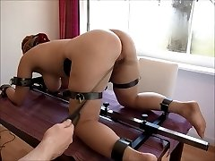 chubby red-haired Video17 floor pillory 3rd whipping, clamps
