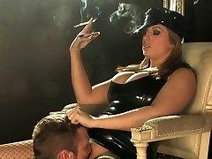 Ashley Downs chain smoking 120s latex smoking predominance