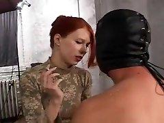 Exotic amateur BDSM, Sandy-haired sex scene