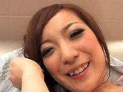 Crazy slut licks dude's ass and man meat in the bathroom