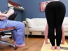 her nails ally's daughter in bathroom Ass-Marionette Yoga