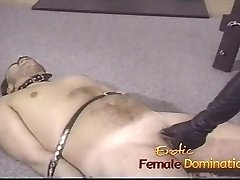 Pizza boy finishes up as a victim in this dominatrixs dungeon