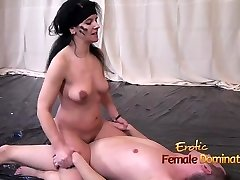 Nude Women Struggling Against Her Nude Male Opponent