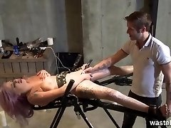 Hot wax fetish with a restrained intercourse marionette