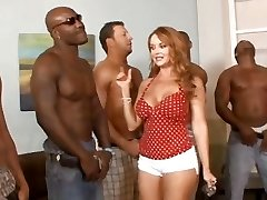 5 interracial guys lineup so that housewife Janet Mason can choose the greatest