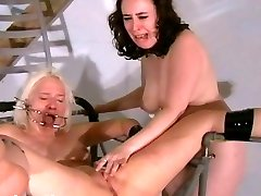Two slaves bizarre cooter punishments and whipping to tears